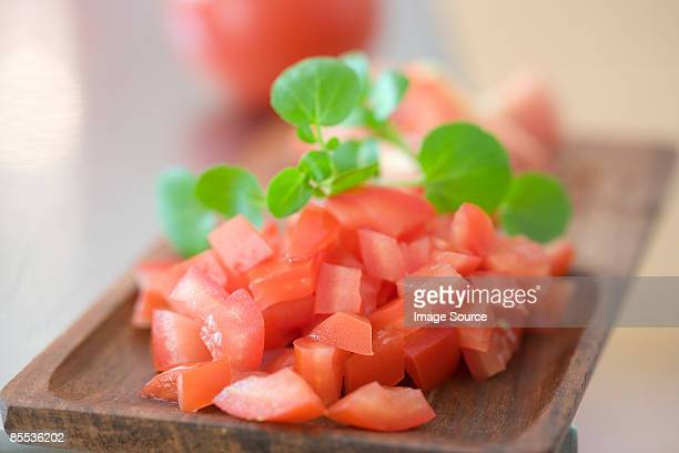 Chopped tomatoes and herbs