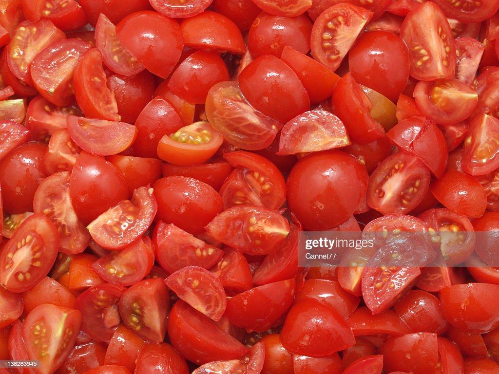Chopped Tomatoes : Stock Photo