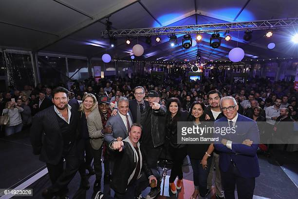 Chopped's Scott Conant Amanda Freitag Marcus Samuelsson New York City Wine Food Festival Founder Executive Director Lee Brian Schrager Ted Allen...