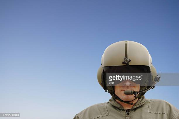 Chopper Pilot (clipping path)