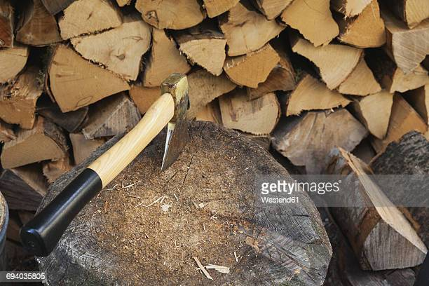 chopping firewood - firewood stock pictures, royalty-free photos & images