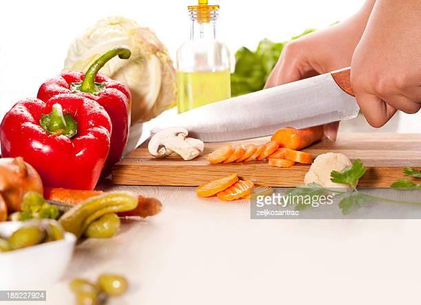 Picar verduras