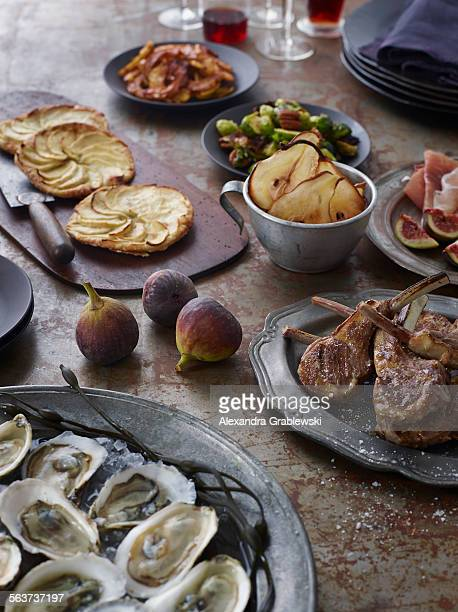 Chops and Oysters Table