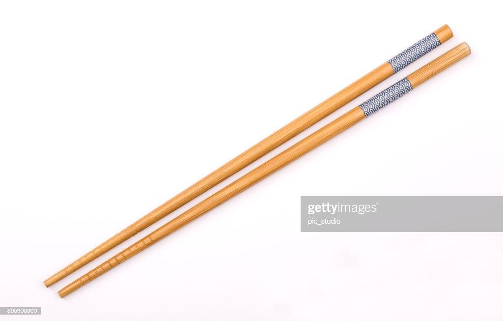Chopsticks isolated on white background : Stock Photo
