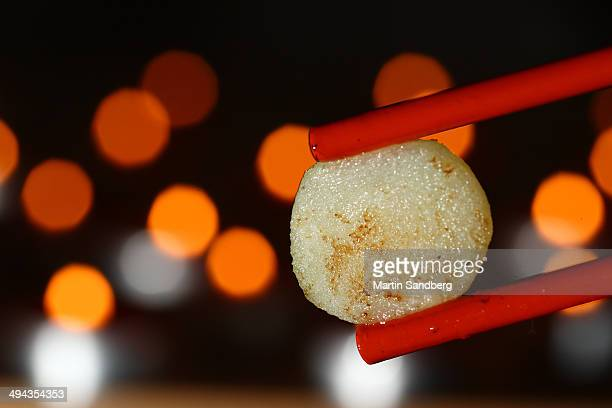 Chopsticks with water chestnut