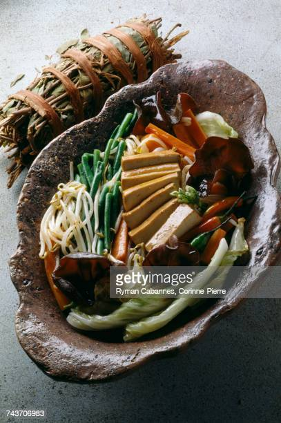 chop-suey vegetables and tofu - chop suey stock photos and pictures