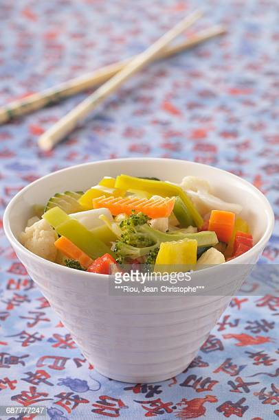 chop-suey vegetables - chop suey stock photos and pictures
