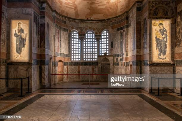 Chora Church Museum in Istanbul, Turkey seen on August 26, 2020. The city's famous museum will be reconverted to a mosque and opened to Muslim...