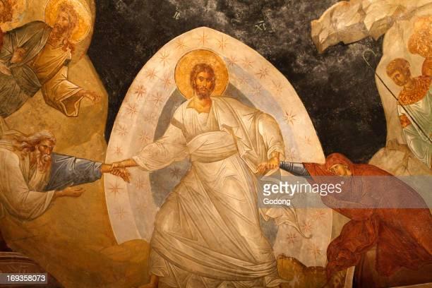 Chora church museum Resurrection fresco