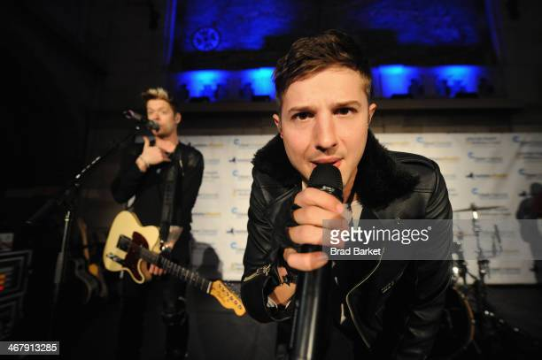 Chord Overstreet and Ryan Follese perform at the Clear Channel Media Entertainment New Yorks FIRST ANNUAL Lifestyle Health Wellness Expo presented by...