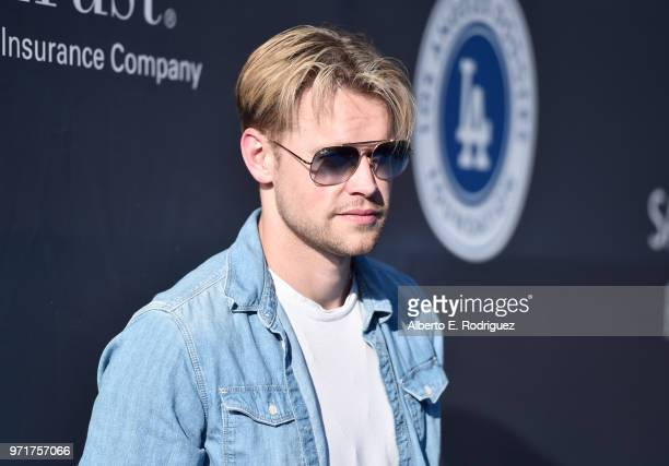 Chord Overstreet attends the Fourth Annual Los Angeles Dodgers Foundation Blue Diamond Gala at Dodger Stadium on June 11 2018 in Los Angeles...