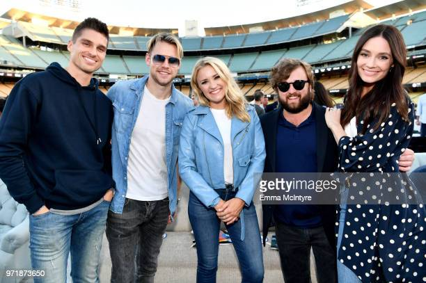 Chord Overstreet Emily Osment Haley Joel Osment and Amber Alvarez attend the Fourth Annual Los Angeles Dodgers Foundation Blue Diamond Gala at Dodger...