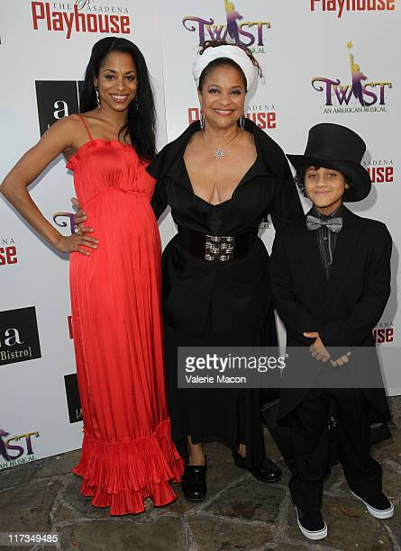 Choregrapher Debbie Allen her daughter Vivian Nixon pose with Coco Monroe at TWIST An American Musical Opening Night Gala at Pasadena Playhouse on...