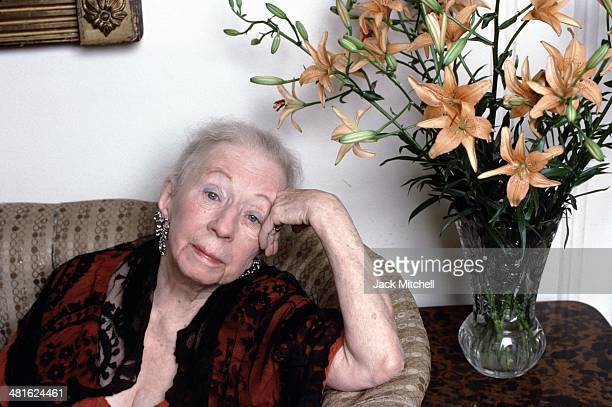 Choreographer Agnes de Mille photographed in her New York City apartment in February 1988