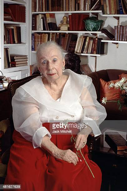 Choreographer Agnes de Mille photographed in her New York City apartment in 1992