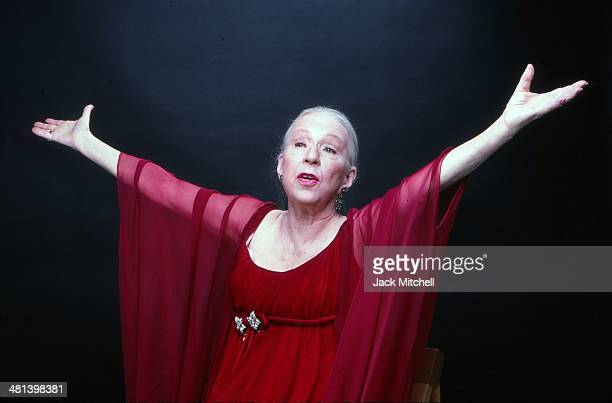 Choreographer Agnes de Mille photographed in New York City 1980