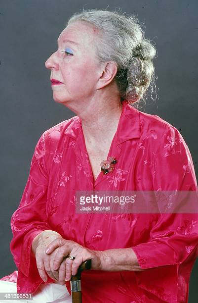 Choreographer Agnes de Mille photographed in New York City July 1976