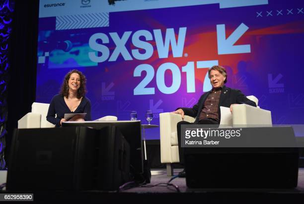 Choreographer Amy Kurzweil and author Ray Kurzweil speak onstage at 'Ray and Amy Kurzweil on Collaboration and the Future ' during 2017 SXSW...