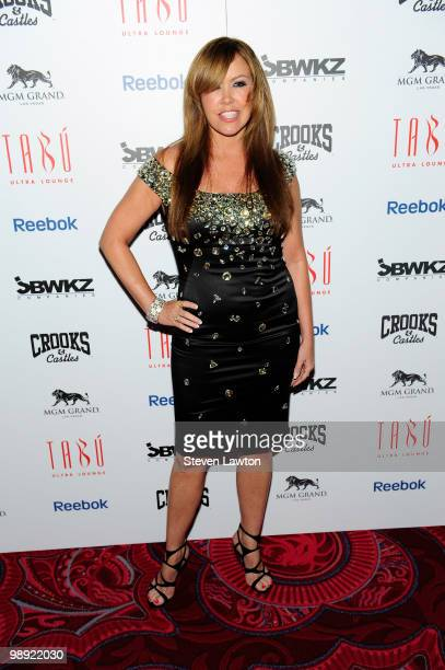 Choreographer and television personality Mary Murphy arrives at the Tabu Ultra Lounge at MGM Grand Hotel/Casino for the opening night of the...