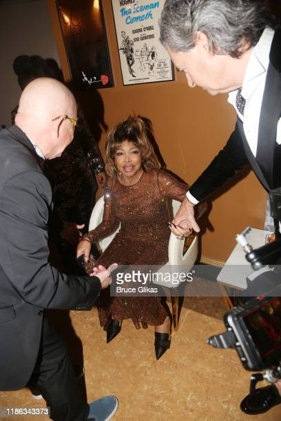 "Choreographer Anthony Van Laast, Tina Turner and husband Erwin Bach backstage at the opening night of ""Tina - The Tina Turner Musical"" at The..."