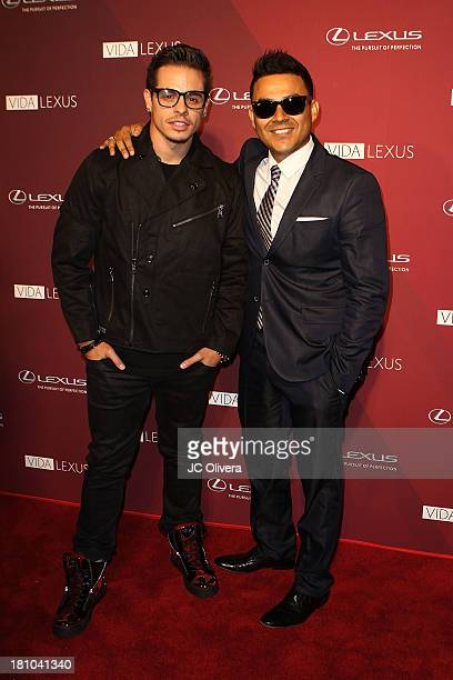 Choreographer Beau 'Casper' Smart and Singer Frankie J attend The Hispanic Listening Lounge presented by Lexus featuring an intimate performance with...