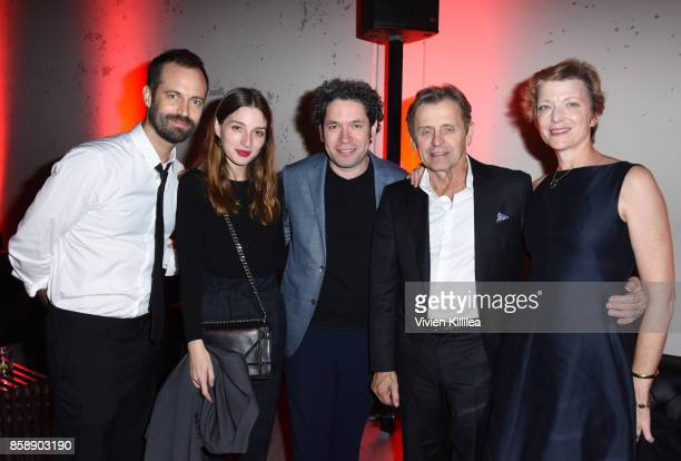 Choreographer Benjamin Millepied actress Maria Valverde conductor Gustavo Dudamel Mikhail Baryshnikov and Lisa Rinehart attend the 2017 Los Angeles...