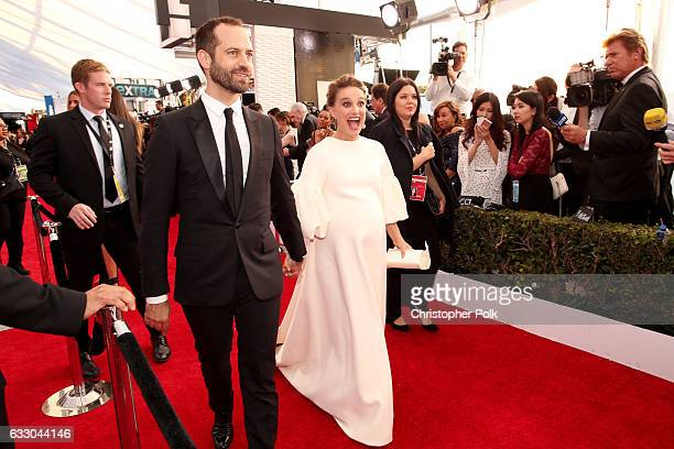 Choreographer Benjamin Millepied and actor Natalie Portman attend The 23rd Annual Screen Actors Guild Awards at The Shrine Auditorium on January 29...