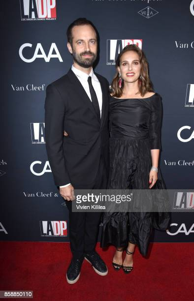 Choreographer Benjamin Millepied and actress Natalie Portman attend the 2017 Los Angeles Dance Project Gala on October 7 2017 in Los Angeles...