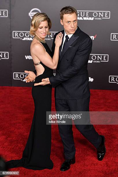 Choreographer Charissa Barton and actor Alan Tudyk attend the premiere of Walt Disney Pictures and Lucasfilm's Rogue One A Star Wars Story at the...