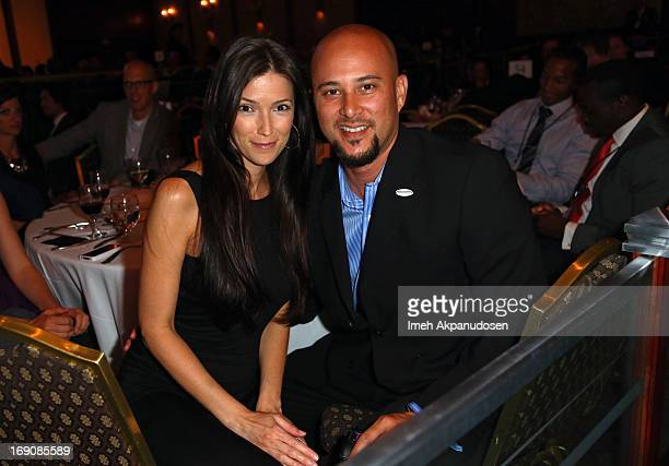 Choreographer Cris Judd and Kelly A Wolfe attend the 28th Anniversary Sports Spectacular Gala at the Hyatt Regency Century Plaza on May 19 2013 in...