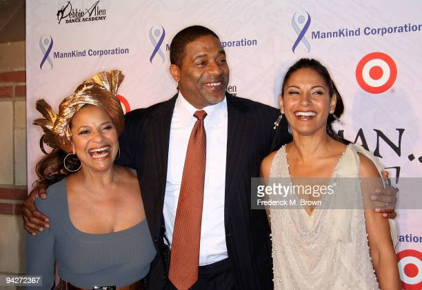 Choreographer Debbie Allen former Los Angeles Laker Norm Nixon and actress Salli Richardson Whitfield attend the Debbie Allen Dance Academy's annual...
