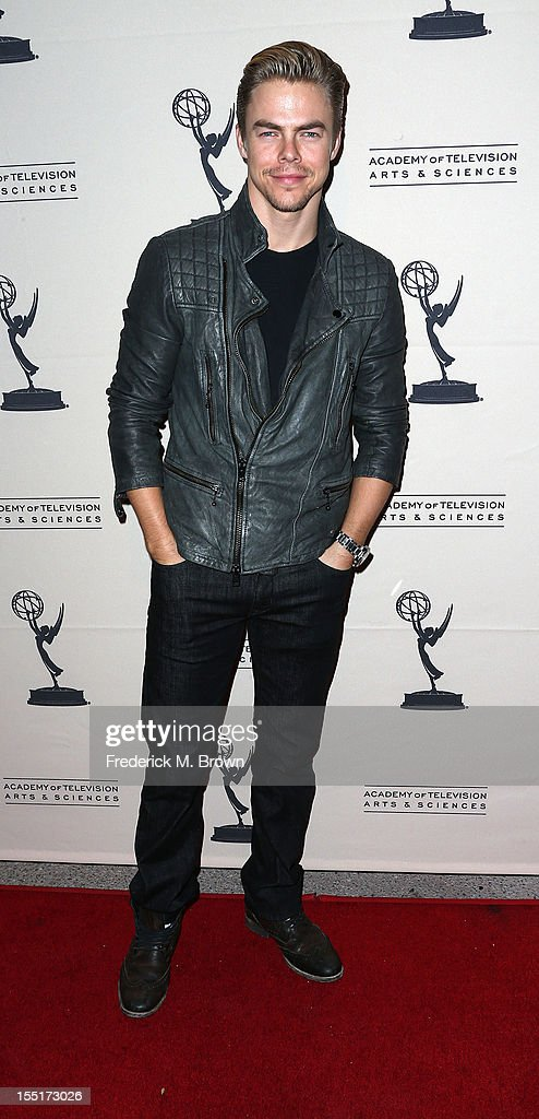 Choreographer Derek Hough attends The Academy Of Television Arts & Sciences' Presents 'The Choreographers: Yesterday, Today and Tomorrow at the Leonard H. Goldenson Theatre on November 1, 2012 in North Hollywood, California.