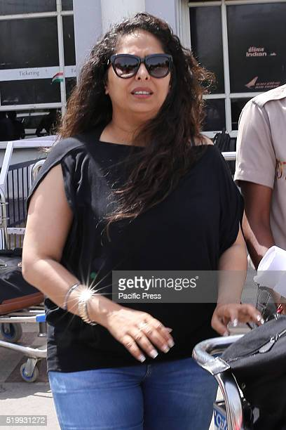 Choreographer Geeta Kapoor comes out from Jodhpur Airport on Saturday She arrives for shoot of upcoming movie Kung Fu Yoga The film is a...