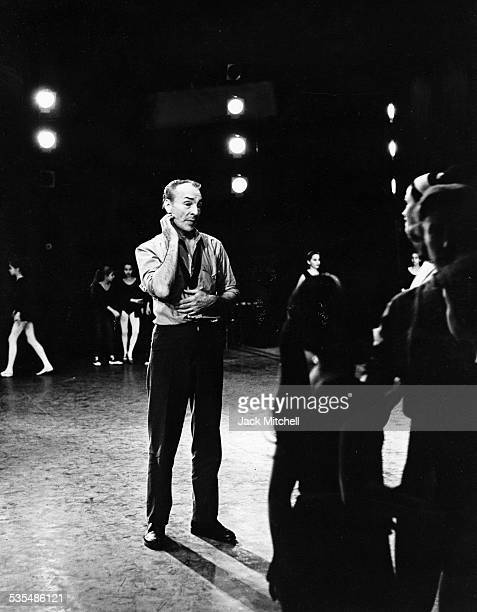 Choreographer George Balanchine leading a rehearsal