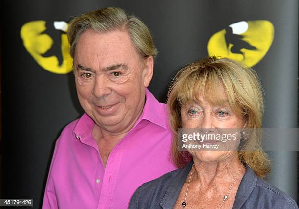Choreographer Gillian Lynne and Andrew Lloyd Webber pose during a photocall for Cats at London Palladium on July 7 2014 in London England