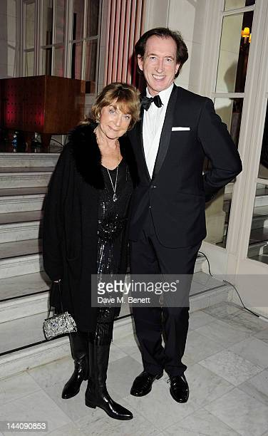 Choreographer Gillian Lynne and Peter Land attend an after party celebrating the press night performance of 'Top Hat' at The Waldorf Hilton Hotel on...