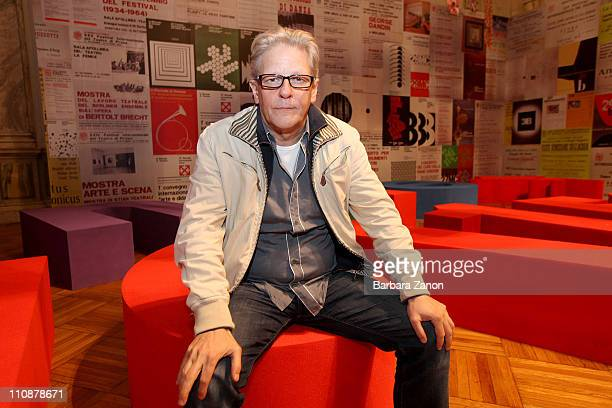 Choreographer Jan Fabre poses for a portrait session at the Venice Biennale on March 25 2011 in Venice Italy