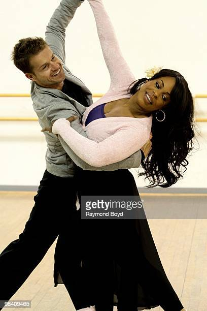 Choreographer 'Louie' Van Amstel and actress Niecy Nash rehearses for ABC's 'Dancing With The Stars' competition in Chicago Illinois on APRIL 09 2010