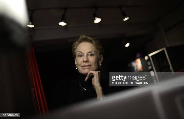 "Choreographer Lucinda Childs poses on October 16, 2014 at the Theatre de la Ville in Paris. Lucinda Childs will present the ballet ""Dance"", created..."