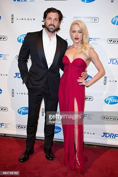 Choreographer Maksim Chmerkovskiy and dancer Peta Murgatroyd attend the JDRF 43rd Annual Promise Ball at Cipriani Wall Street on October 28 2015 in...