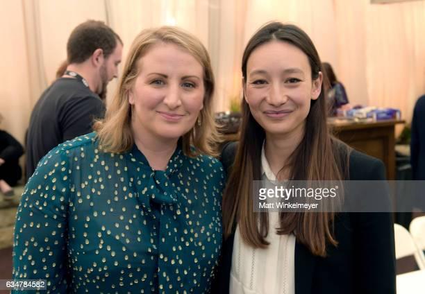 Choreographer Mandy Moore and producer Joanna Natsegara attend the Womens Panel during the 32nd Santa Barbara International Film Festival at the...