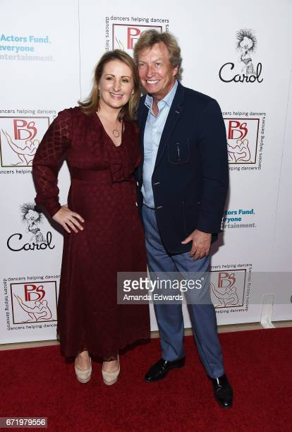 Choreographer Mandy Moore and producer Nigel Lythgoe arrive at the 30th Annual Gypsy Awards Luncheon at The Beverly Hilton Hotel on April 23 2017 in...