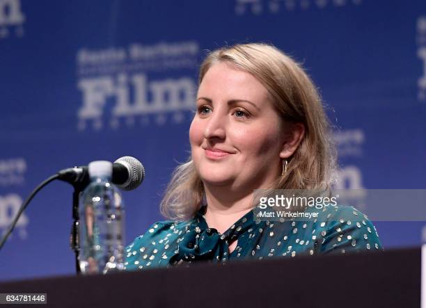 Choreographer Mandy Moore speaks onstage at the Womens Panel during the 32nd Santa Barbara International Film Festival at the Lobero Theatre on...
