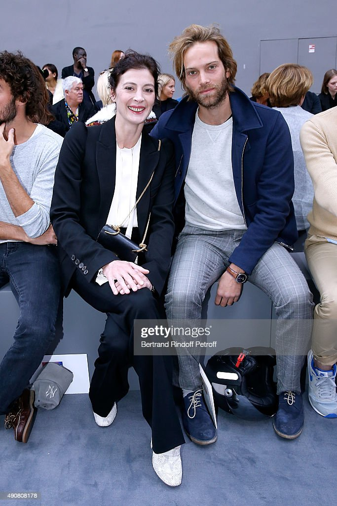 Choreographer Marie-Agnes Gillot (L) and Guest attend the Chloe show as part of the Paris Fashion Week Womenswear Spring/Summer 2016. Held at Grand Palais on October 1, 2015 in Paris, France.