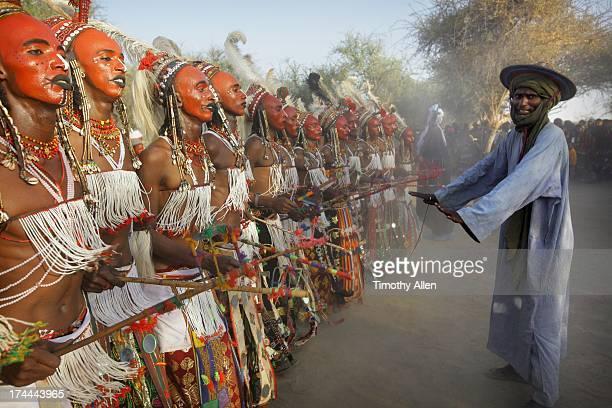 Choreographer prompts men to dance at Gerewol