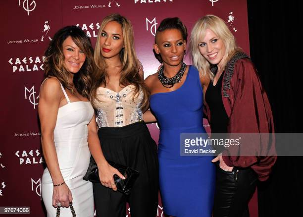 Choreographer Robin Antin singers Leona Lewis Melanie Brown and Natasha Bedingfield arrive at the grand opening of 'Matt Goss Live from Caesars...