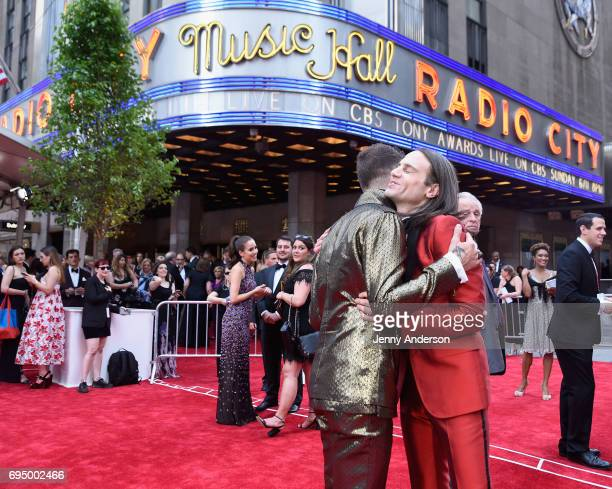 Choreographer Sam Pinkleton and producer Jordan Roth attend the 2017 Tony Awards at Radio City Music Hall on June 11 2017 in New York City