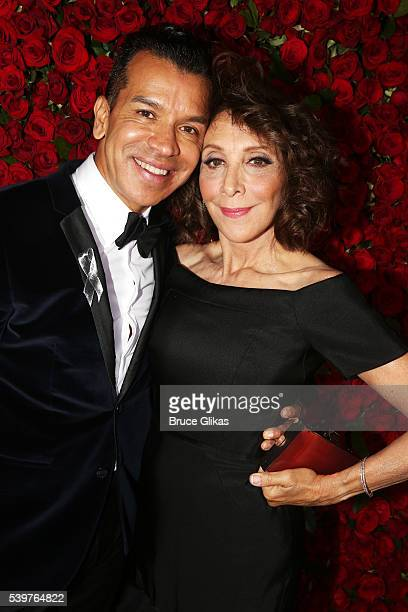 Choreographer Sergio Trujillo and actress Andrea Martin attend 70th Annual Tony Awards Arrivals at Beacon Theatre on June 12 2016 in New York City
