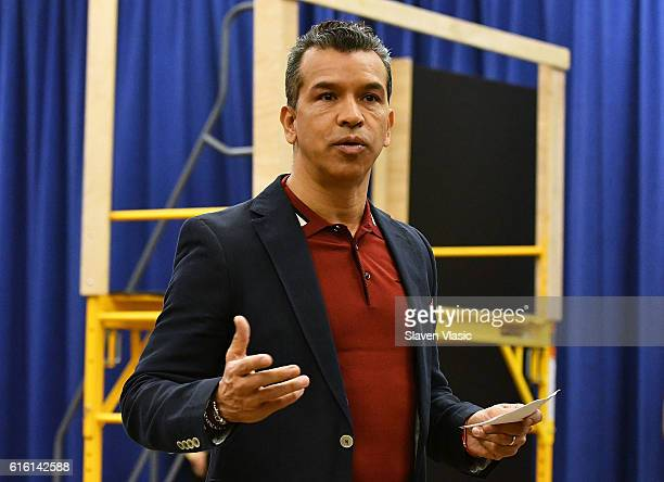 Choreographer Sergio Trujillo attends 'A Bronx Tale The Musical' cast photocall at The New 42nd Street Studios on October 21 2016 in New York City