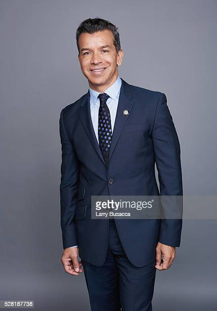 Choreographer Sergio Trujillo poses for a portrait at the 2016 Tony Awards Meet The Nominees Press Reception on May 4 2016 in New York City